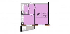 Однокомнатная квартира - 39,94 м2