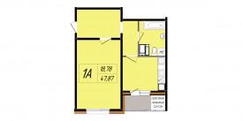 Однокомнатная квартира - 44,55 м2
