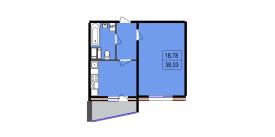 Однокомнатная квартира - 38,03 м2
