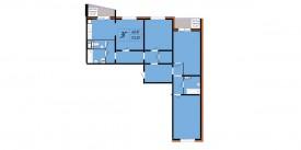 Трехкомнатная квартира - 113,30 м2
