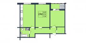 План-схема двухкомнатной квартиры - 71,94м2