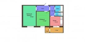Двухкомнатная квартира - 59,67 м2