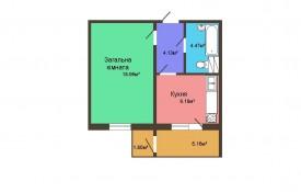 Однокомнатная квартира - 41,43 м2