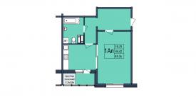 План-схема однокомнатной квартиры - 48,35м2